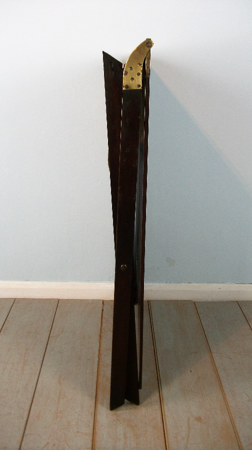 Late Georgian Mahogany Folding Campaign Table